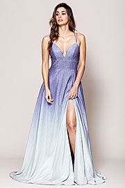 Wholesale Prom Dress item a485. Double Spaghetti A Line Prom Gown.