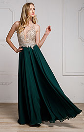 Wholesale Prom Dress item a784. Sequined Plunging Neckine Prom Gown.