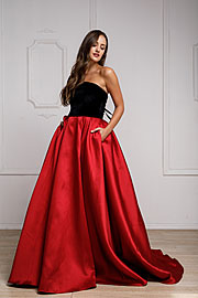 Wholesale Prom Dress item a924. Off Shoulder Long Puffy Prom Dress.